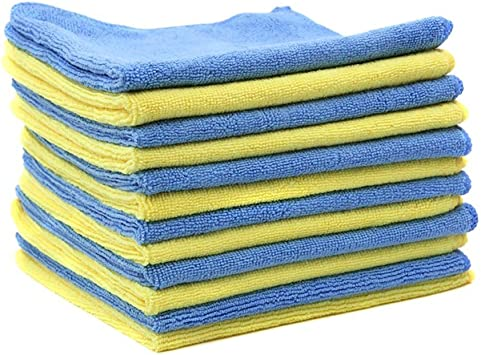 MHF Brand 14x14 inches Microfiber Cleaning Cloths-Lint Free-Streak Free
