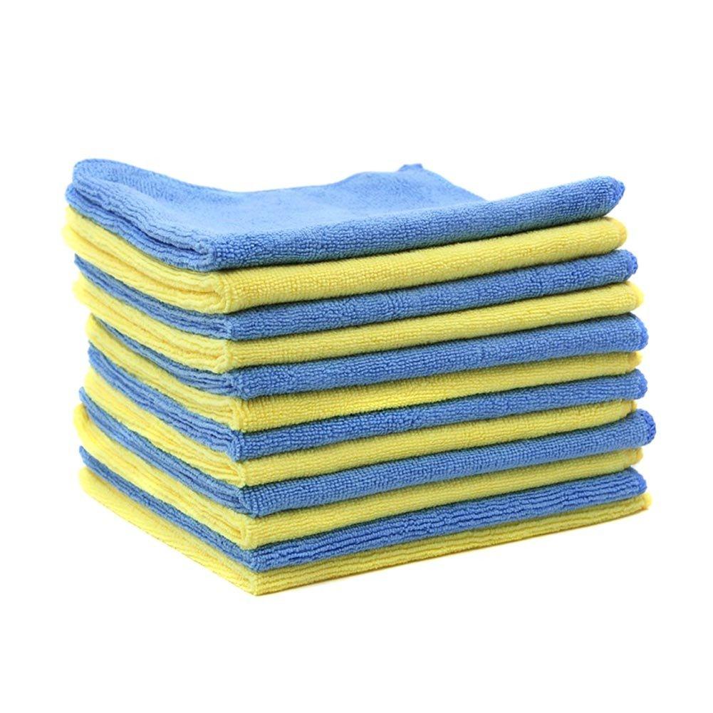 MHF Brand 14x14 inches Microfiber Cleaning Cloths-Lint Free-Streak Free MHFMICR