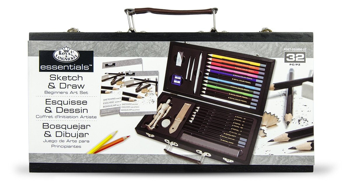 Royal and langnickel beginners sketching and drawing set amazon co uk office products