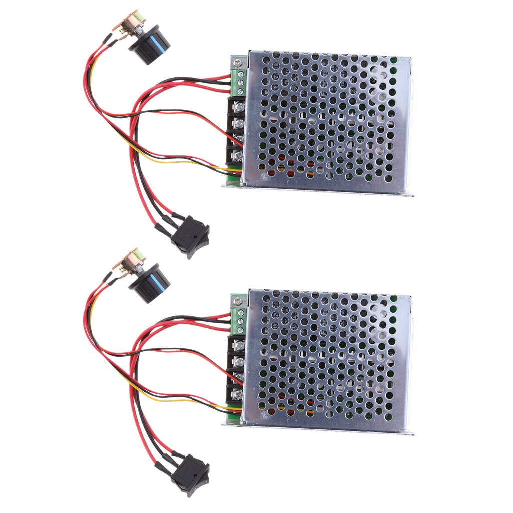 MagiDeal 2Pack 12V 24V 36V 48V DC Motor Speed Controller (PWM) Adjustable Reversible Switch with Box by MagiDeal (Image #6)