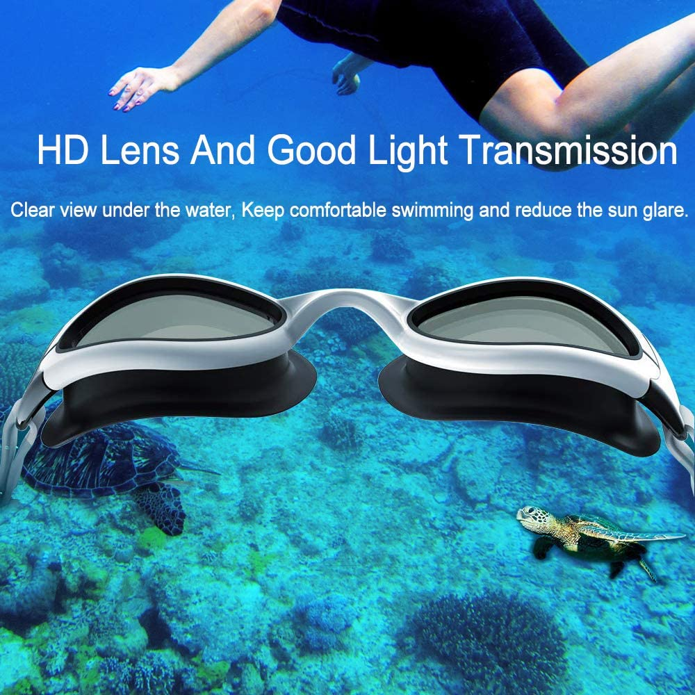 No Leaking Anti Fog UV Protection Triathlon Swim Goggles with Easy Adjustable Fit and Free Protection Case for Youth Spinosaurus Swim Goggles for Women /& Men Youth Swimming Goggles Or Adult