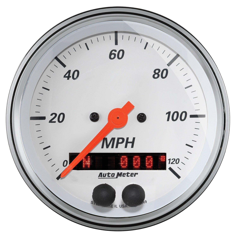 AUTO METER (1349 Arctic White 3-3/8'' 120 MPH GPS Speedometer Gauge by AUTO METER