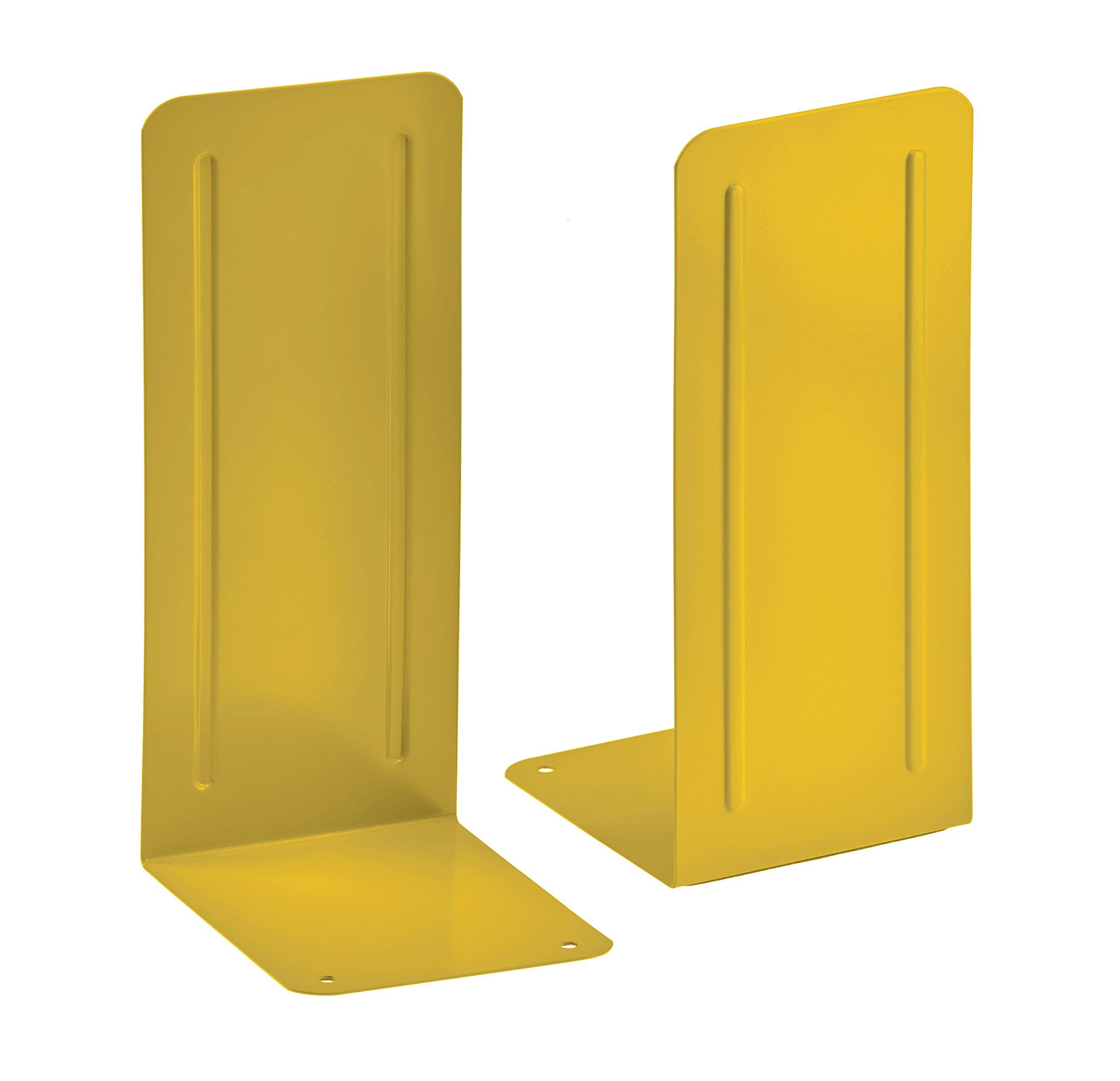 Acrimet Jumbo Premium Bookends 9'' (Yellow Color) (1 Pair)