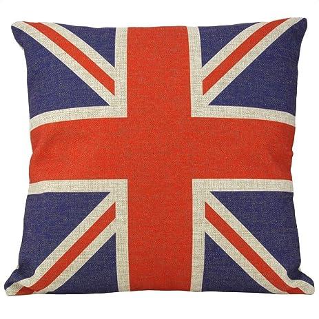 british vintage style union jack flag throw pillow case pillowcase