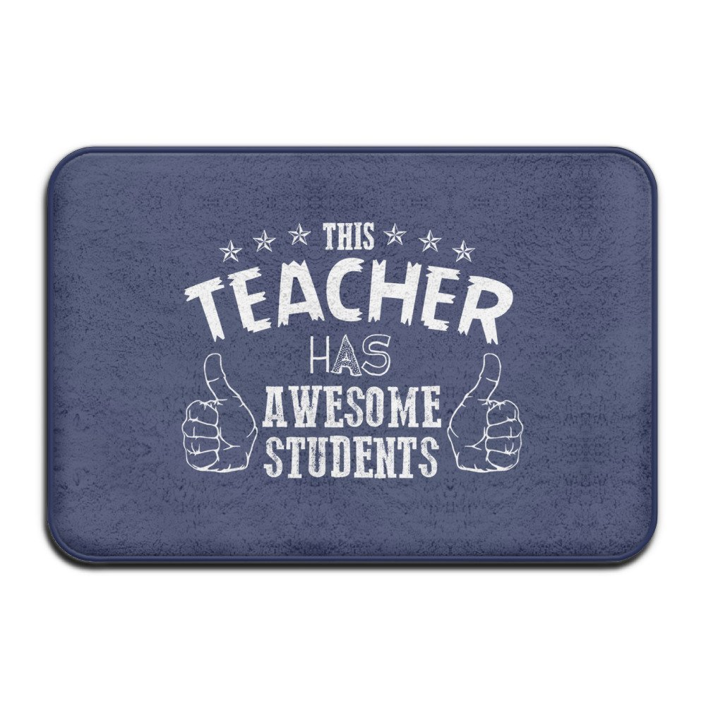 Teacher Awesome Students College School Welcome Mat Doormat Outdoor Funny