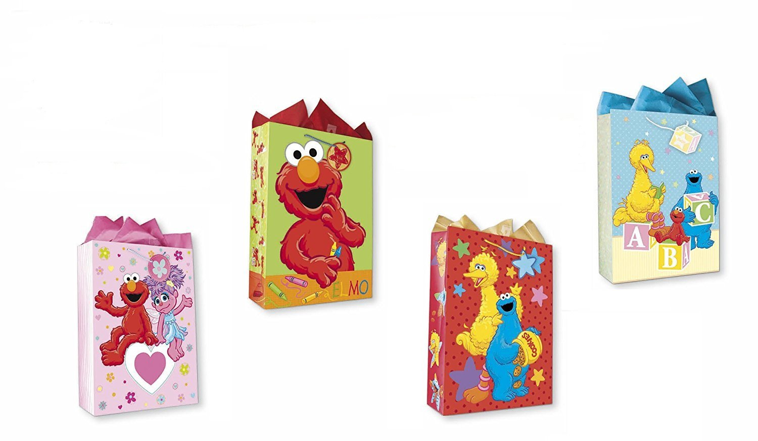 Amazon.com: Sesame Street All Occasion Birthday Party Gift Bags Set ...
