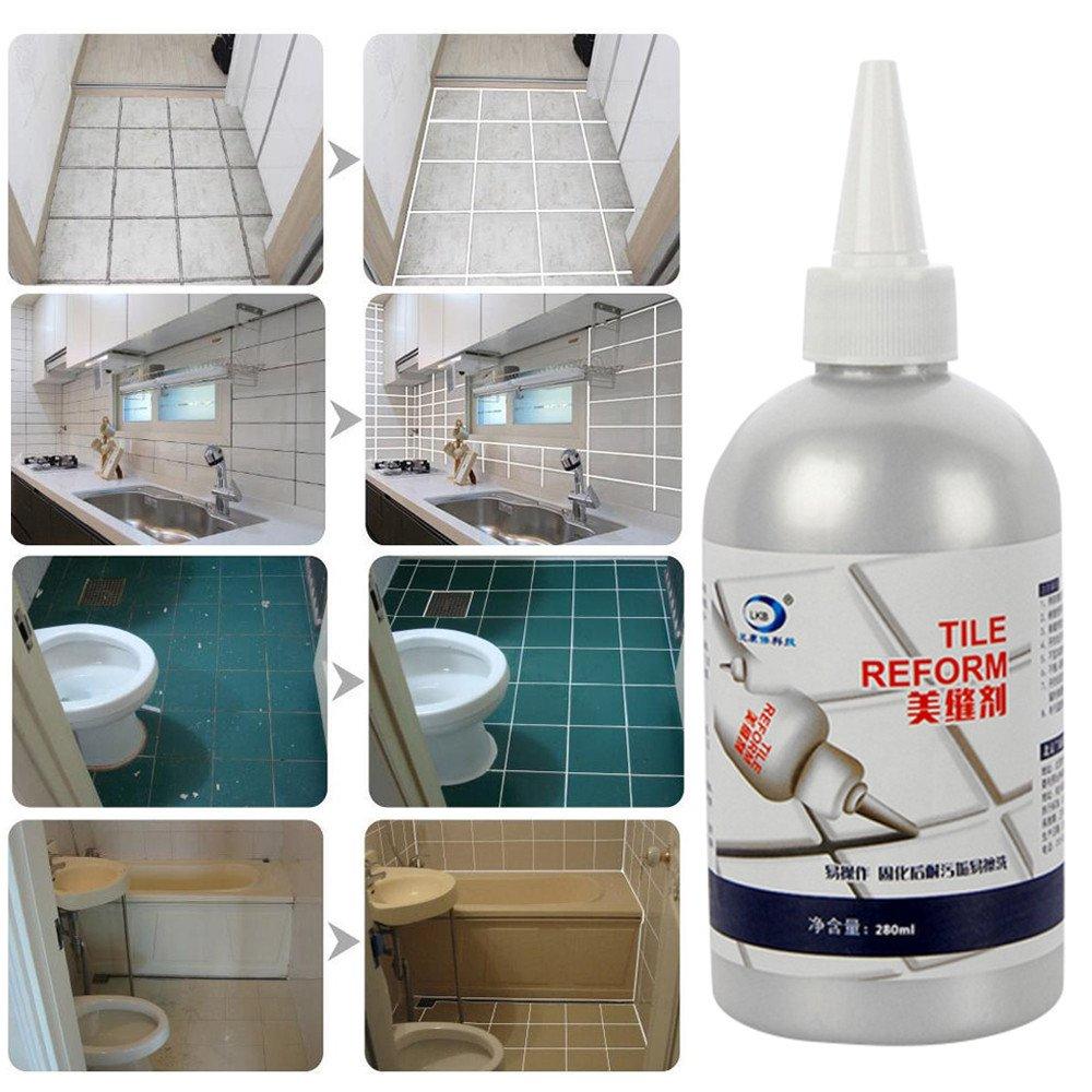 MVPSALE Ceramic Tile Beauty Sewing Agent Floor Tile Pointing Agent,Tile Gap Refill Agent Tile Reform Coating Mold Cleaner Tile Sealer Repair Glue