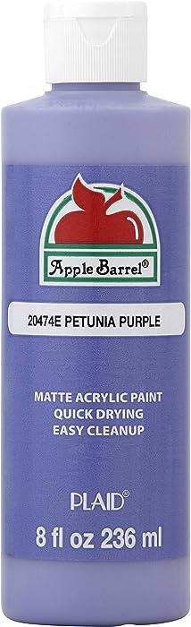 Apple Barrel Acrylic Paint in Assorted Colors (8 Ounce), 20474 Petunia Purple