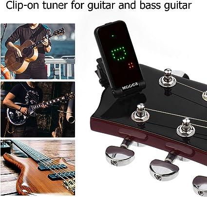 Fesjoy CT-01 Guitarra Bajo eléctrico Sintonizador con clip Gravity ...