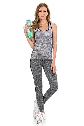 813653ff2fb24 Diamante Women's Power Flex Yoga Pant Legging Sportswear · Style C005A ·  Grey · Size Small