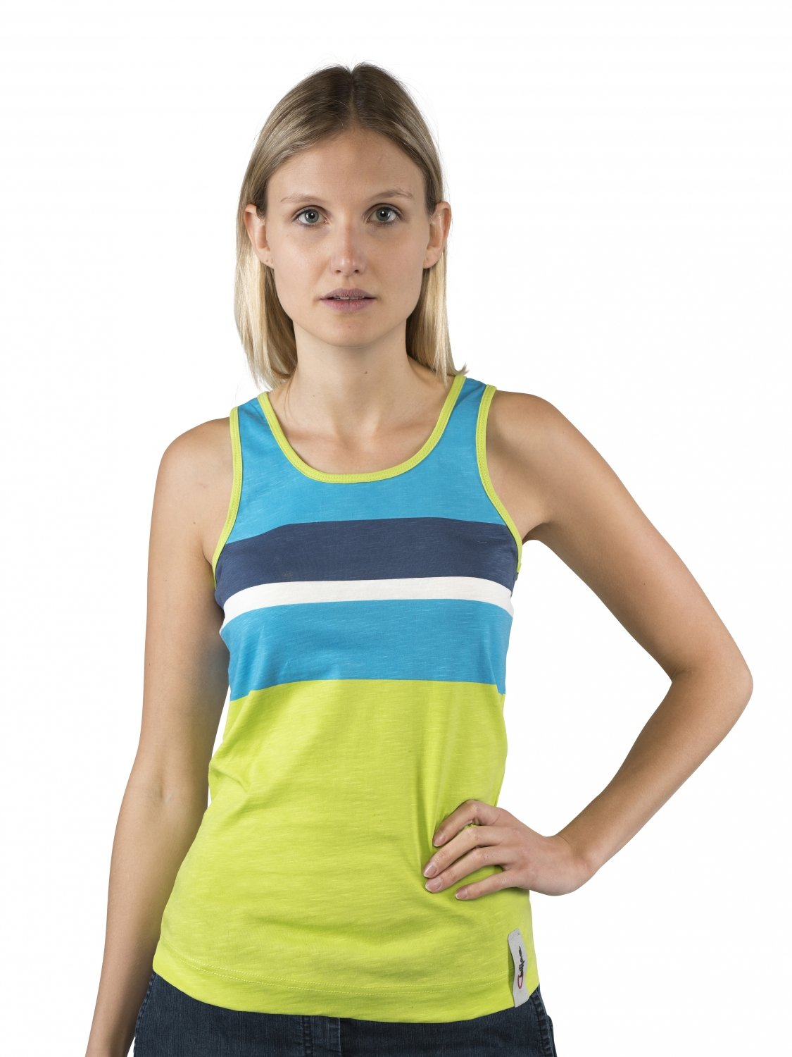 Chillaz Active tanky Stripes, Stripes, tanky Lime Verde Multic f993e5