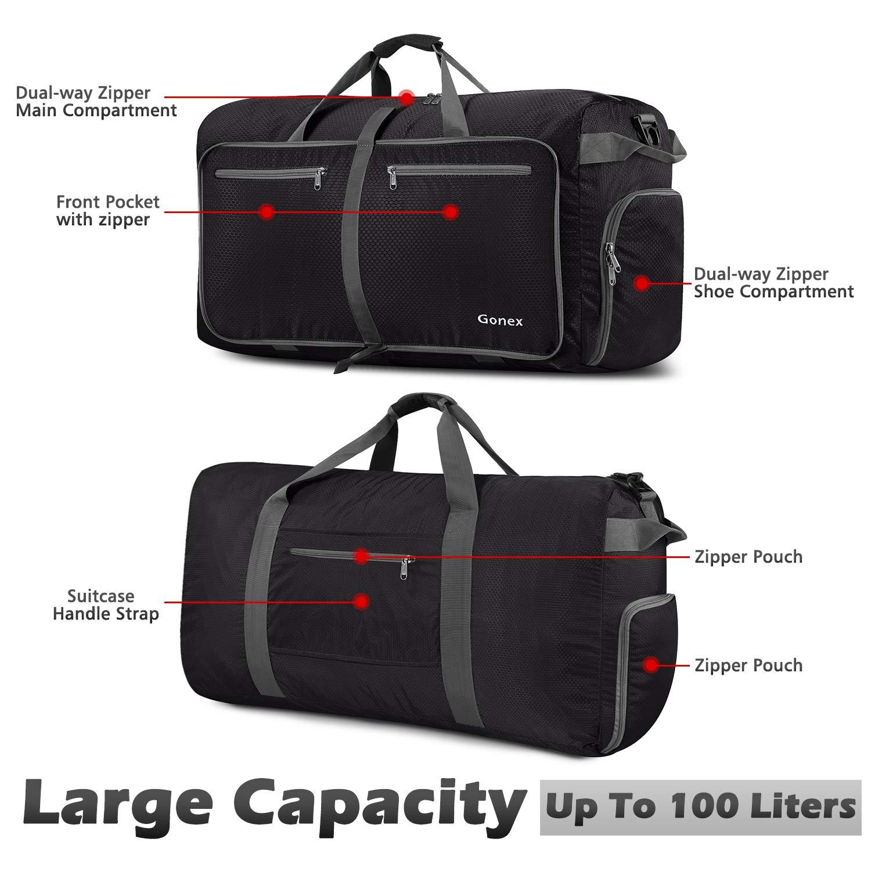 0fe1934729 Amazon.com  Gonex 100L Packable Travel Duffle Bag