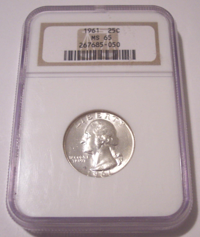 NGC Certified MS 65 1963 Washington 25c