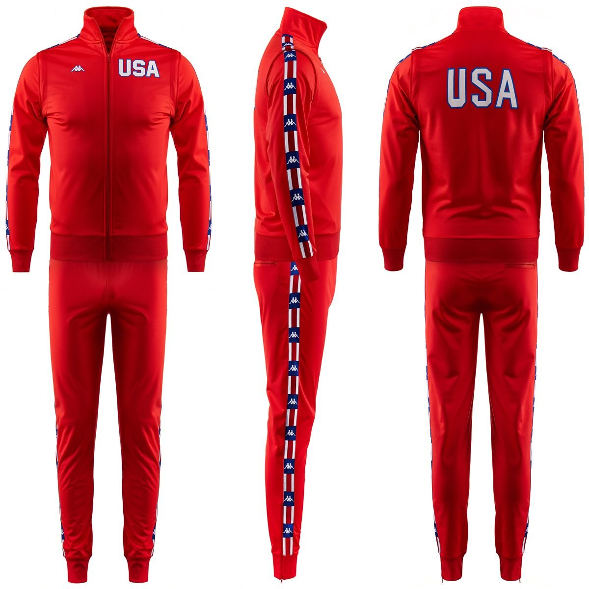 27f03d18ad AUTHENTIC LA84 TRACKSUIT FLAME RED 2016 Kappa XL FLAME RED: Amazon ...