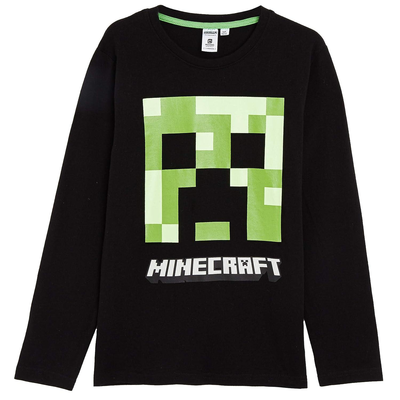 Minecraft Pyjama Gar/çons avec T-Shirt Creeper V/êtements De Nuit pour Enfants Ensemble Pyjama Manches Longues Et Leggings Id/ée Cadeau Gar/çon
