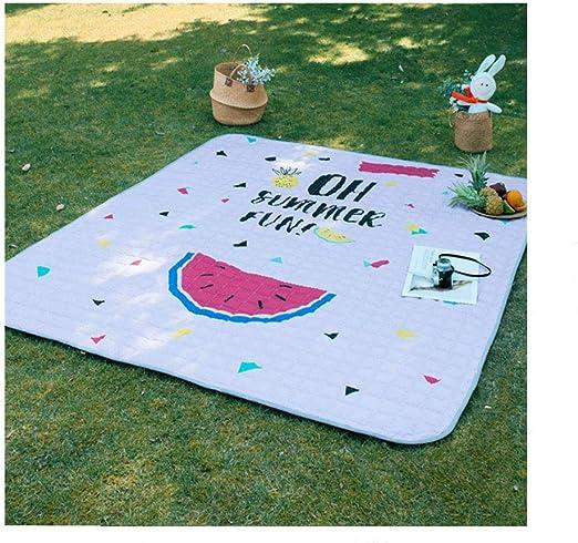 LQ&XL Manta de Picnic, Polyester Spinning Manta para Acampar en la ...