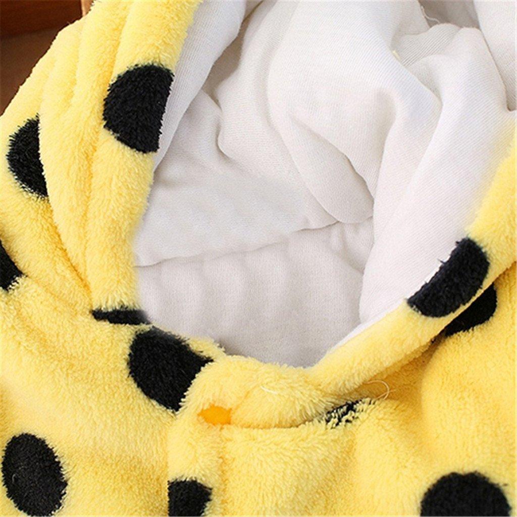 Yinpinxinmao Newborn Infant Baby Winter Warm Hooded Romper Cartoon Bear Jumpsuits Outwear