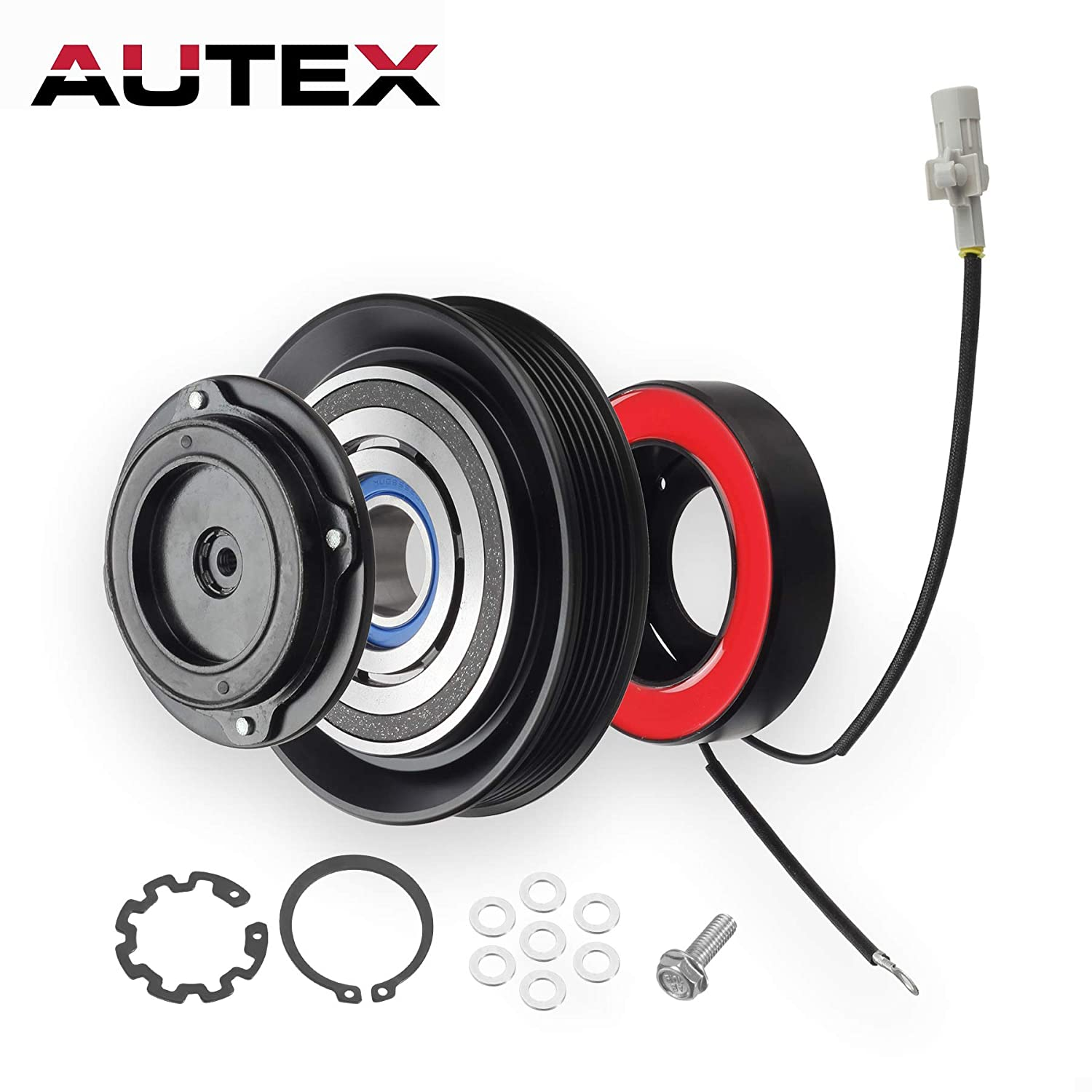 AUTEX AC A/C Compressor Clutch Coil Assembly Kit 88320-02120 447220-4351 447220-4350 Replacement for 2003 2004 2005 2006 2007 2008 Toyota Corolla 2003 2004 2005 2006 2007 Toyota Matrix 1.8L