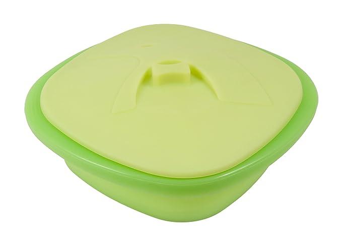 PINFI 81140 - Papillote Grande de Silicona con Bandeja Interior, 2500 ml, Color Verde