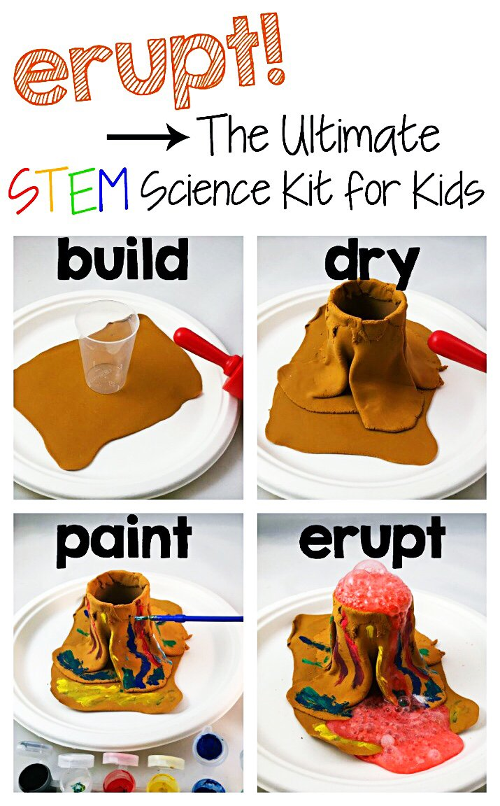 ERUPT Learn About Dinosaurs and Fossils 15 STEM Activities /& Make Your Own Volcano Volcano and Fossil Science Kit