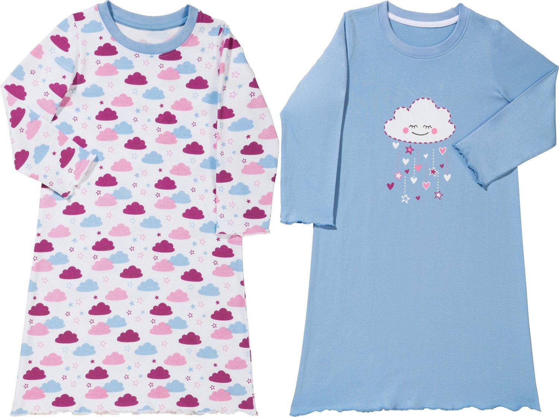 Kinderbutt Nachthemd 2er-Pack mit Druckmotiv Single-Jersey