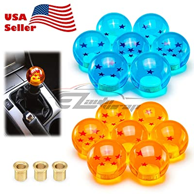 EZAUTOWRAP Universal Blue Dragon Ball Z 3 Star 54mm Shift Knob with Adapters Will Fit Most Cars: Automotive