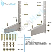 Techhark Special Coated Split Ac Air Conditioner Outdoor Unit Wall Mounting Bracket Stand Mount for 1 Ton - to- 2 Ton, All Company Outdoor AC Units