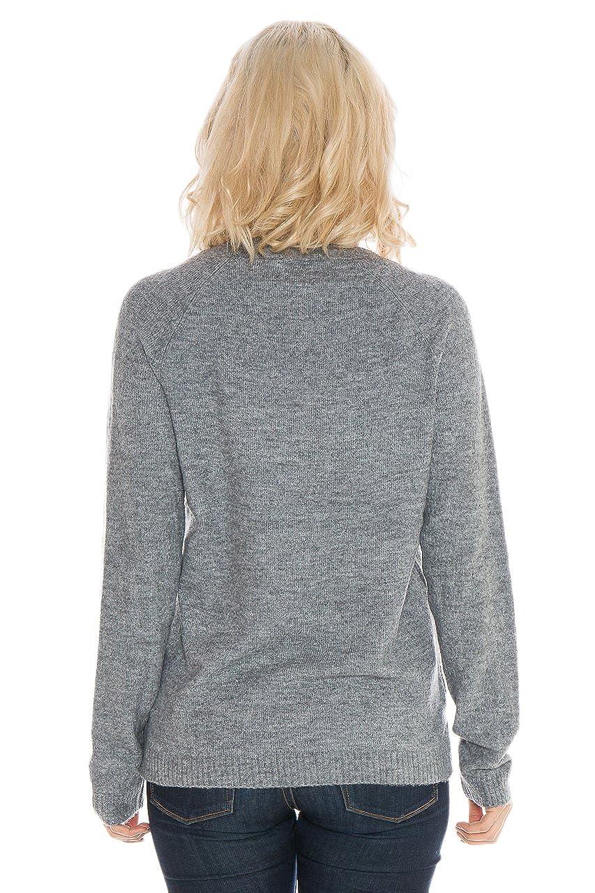 Grey Large NCAA Brown Bears Womens Wool Blend Sweater