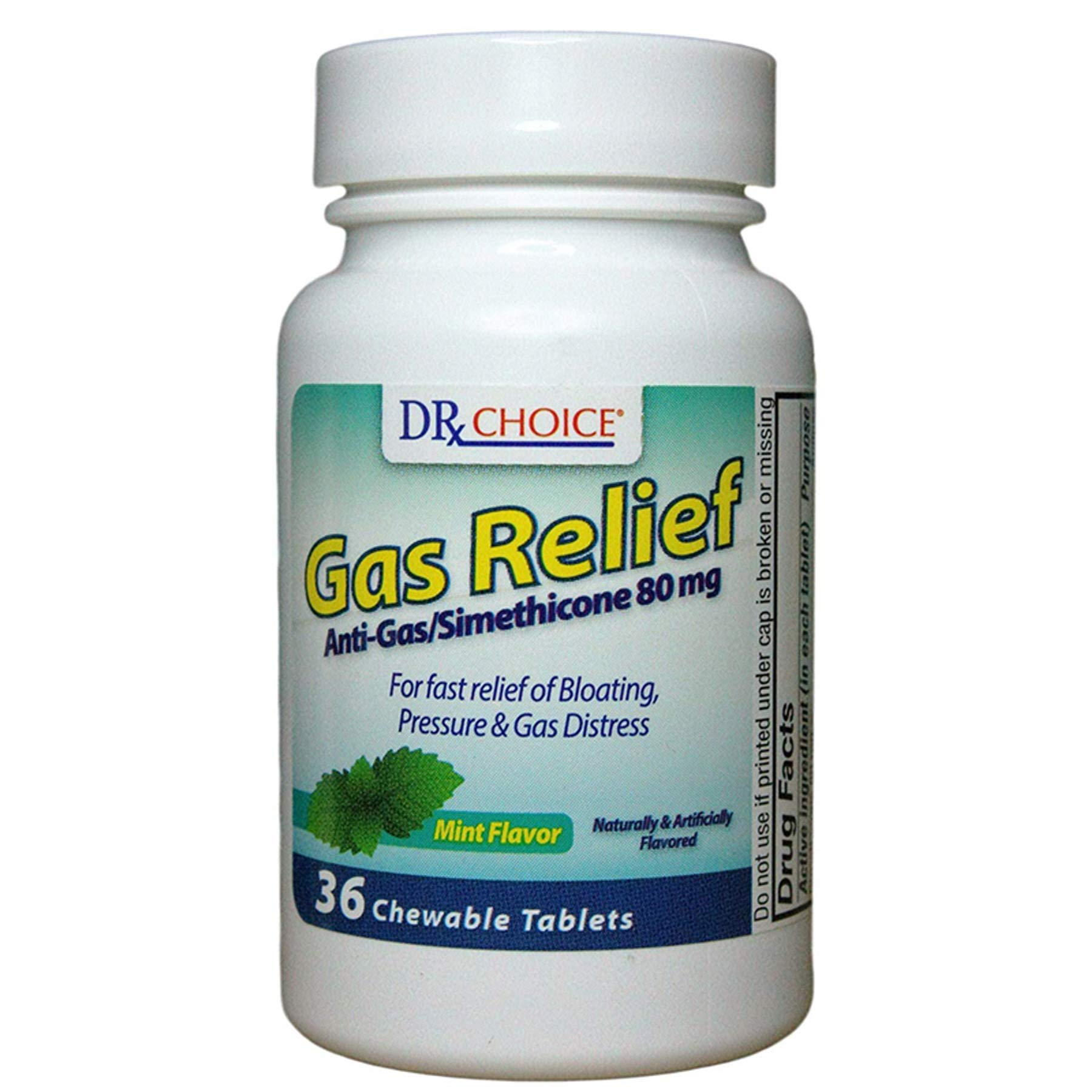 (Pack of 24, 864 Ct) Dr Choice Gas Relief Chewable Tablets by Dr Choice