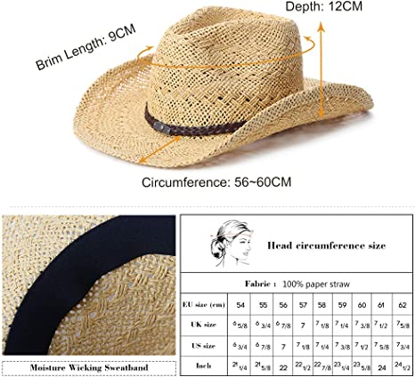 Western Child Cowboy Hat with Star /& Chin Strap Farmers Hat Style is Random
