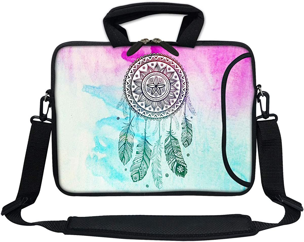 Meffort Inc 11.6 12 Inch Neoprene Laptop Bag W. Side Pocket & Shoulder Strap