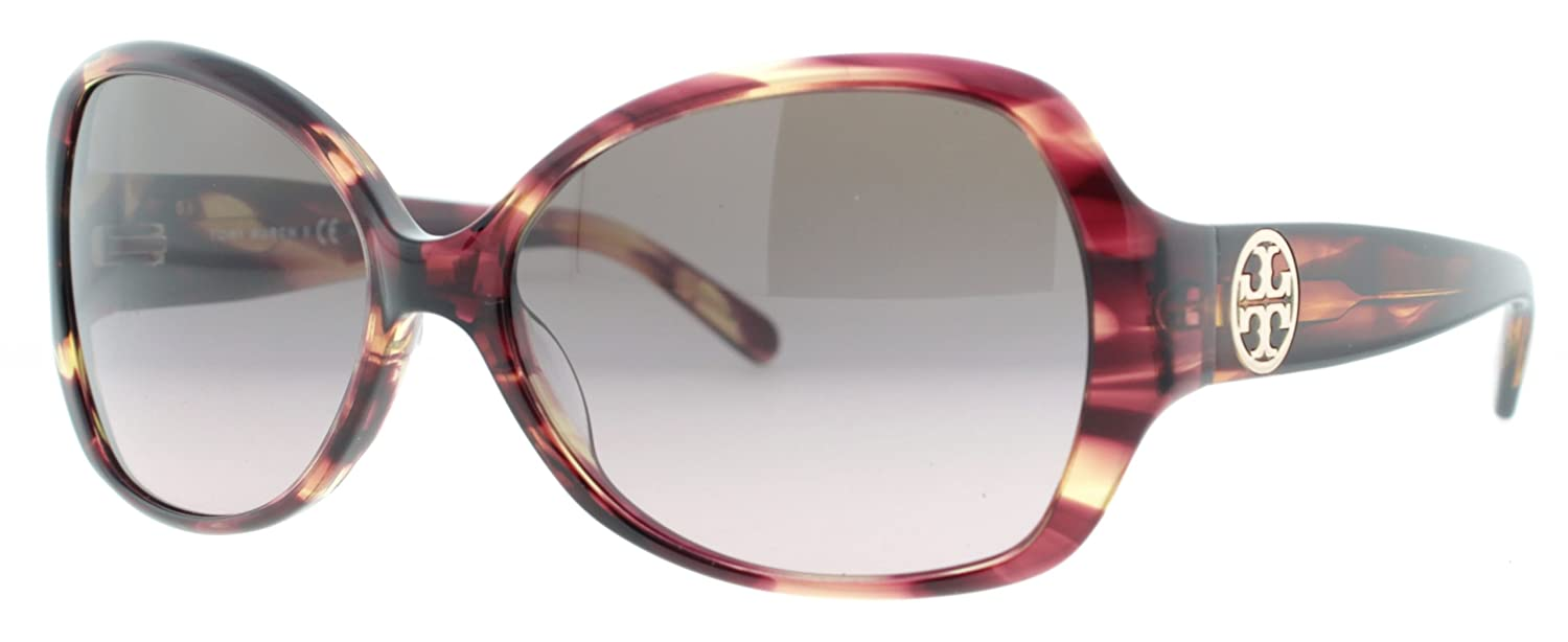 e5c99dfde708 Amazon.com: Tory Burch Ty7019 Sunglasses 913/14 Pink Marble Brown Gradient  Pink 58 15 130: Clothing