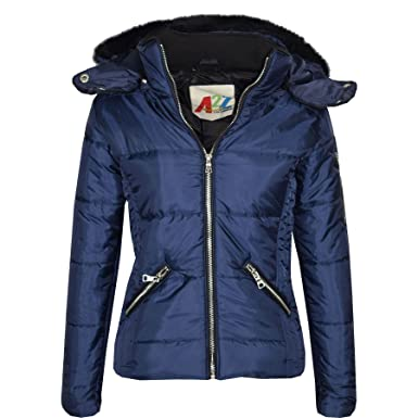 2cf2823437c2 A2Z 4 Kids® Girls Jacket Kids Navy Stylish Cropped Padded Puffer ...