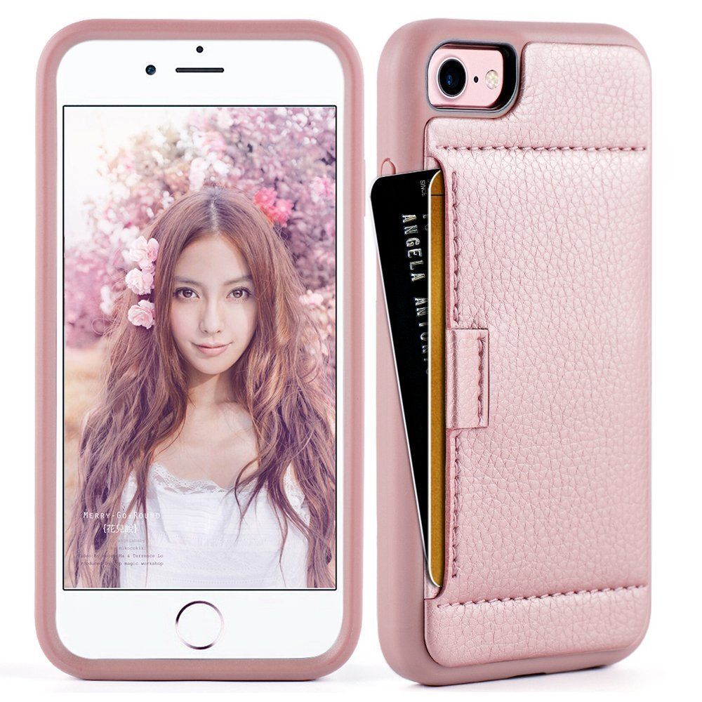 promo code 877a2 c9d2b iphone 8 Wallet Case , iphone 8 / 7 Case, ZVE iphone 7: Amazon.in ...