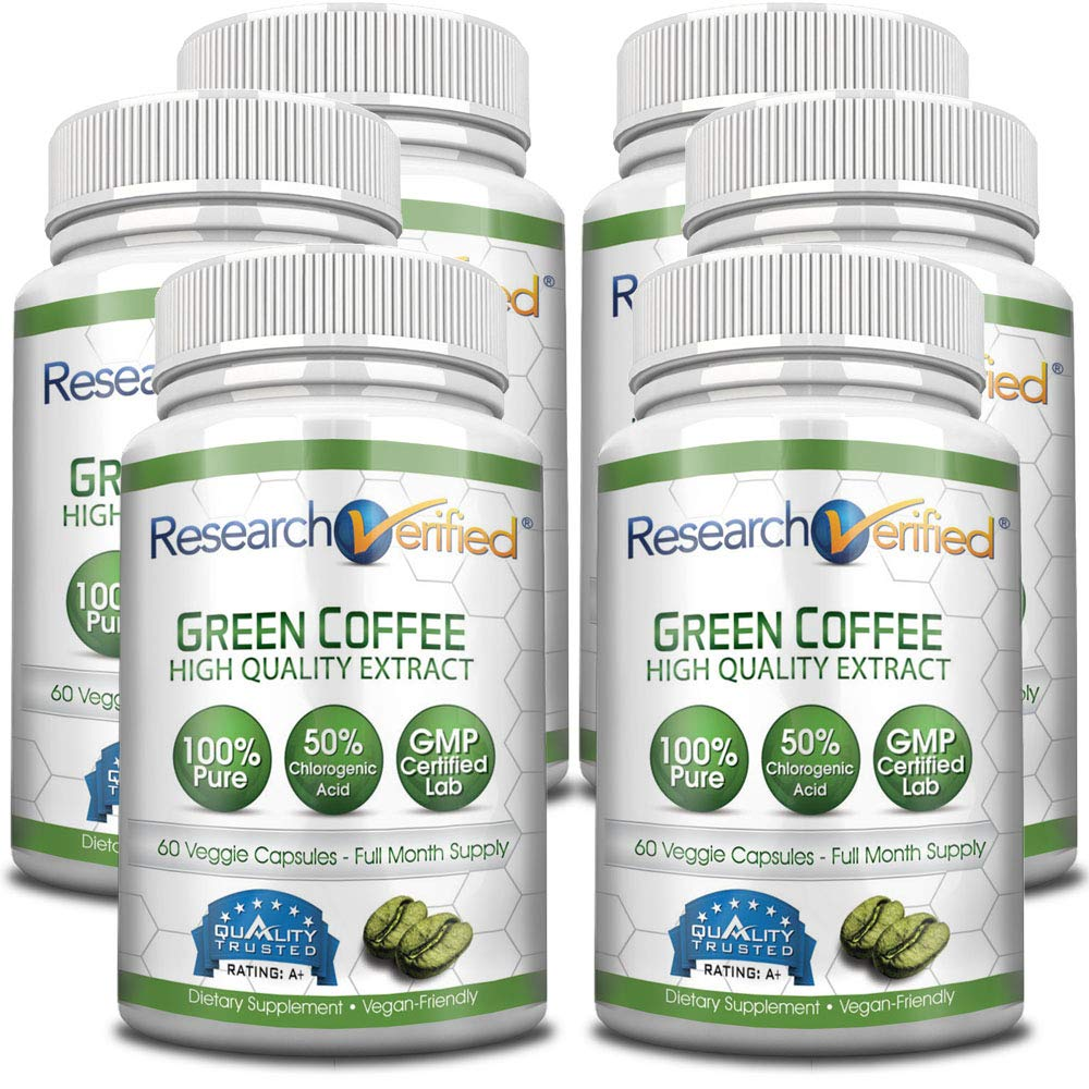 Green Coffee Bean Extract - One Month Supply - 100% Pure by Research Verified - 50% Chlorogenic Acid - 365 Day 100% Money Back Guarantee - Try Risk Free for Fast and Easy Weight Loss by Research Verified (Image #6)