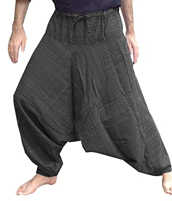Amazon.com: Mens Hmong Hill pantalones harem Yoga pantalón ...