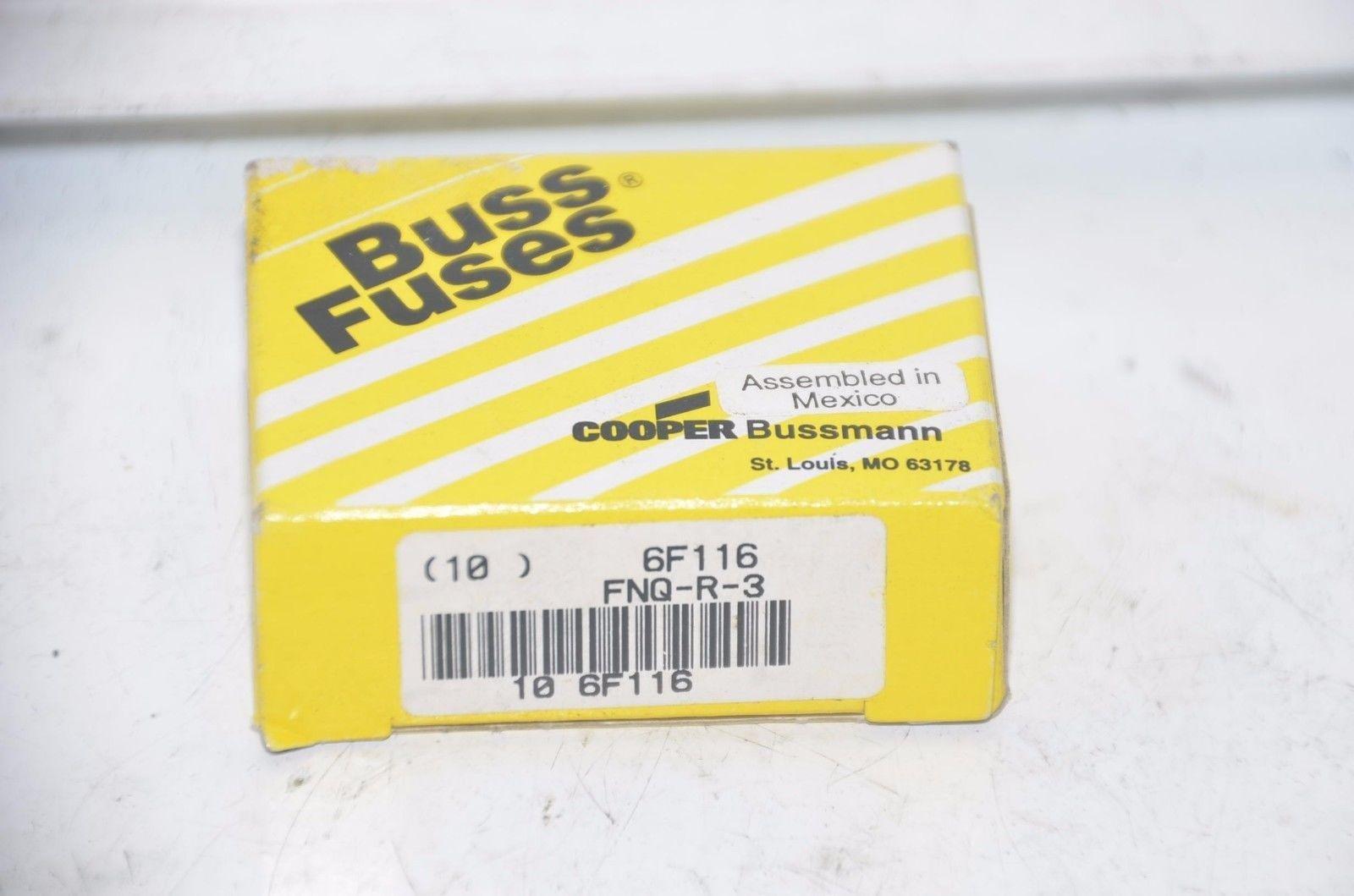 Bussmann FNQ-R-3 CC-Tron FNQR3 Fuse Cooper (Pack of 10) by Bussmann