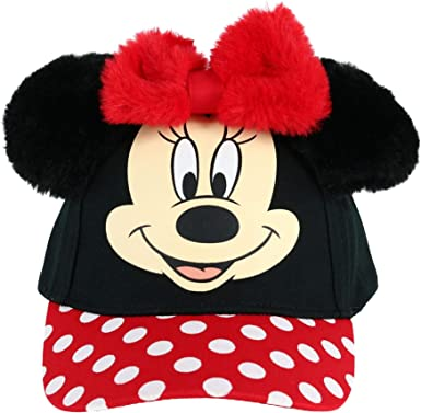 New DISNEY Girl/'s Hat Infant Size MINNIE MOUSE Floppy Brim Red