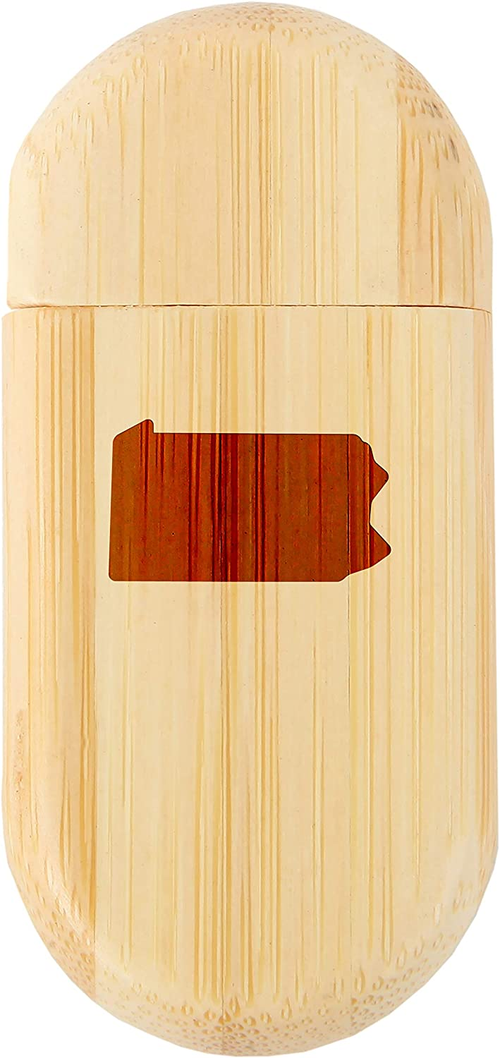 Pennsylvania 8Gb Bamboo USB Flash Drive with Rounded Corners 8Gb USB Gift for All Occasions Wood Flash Drive with Laser Engraving