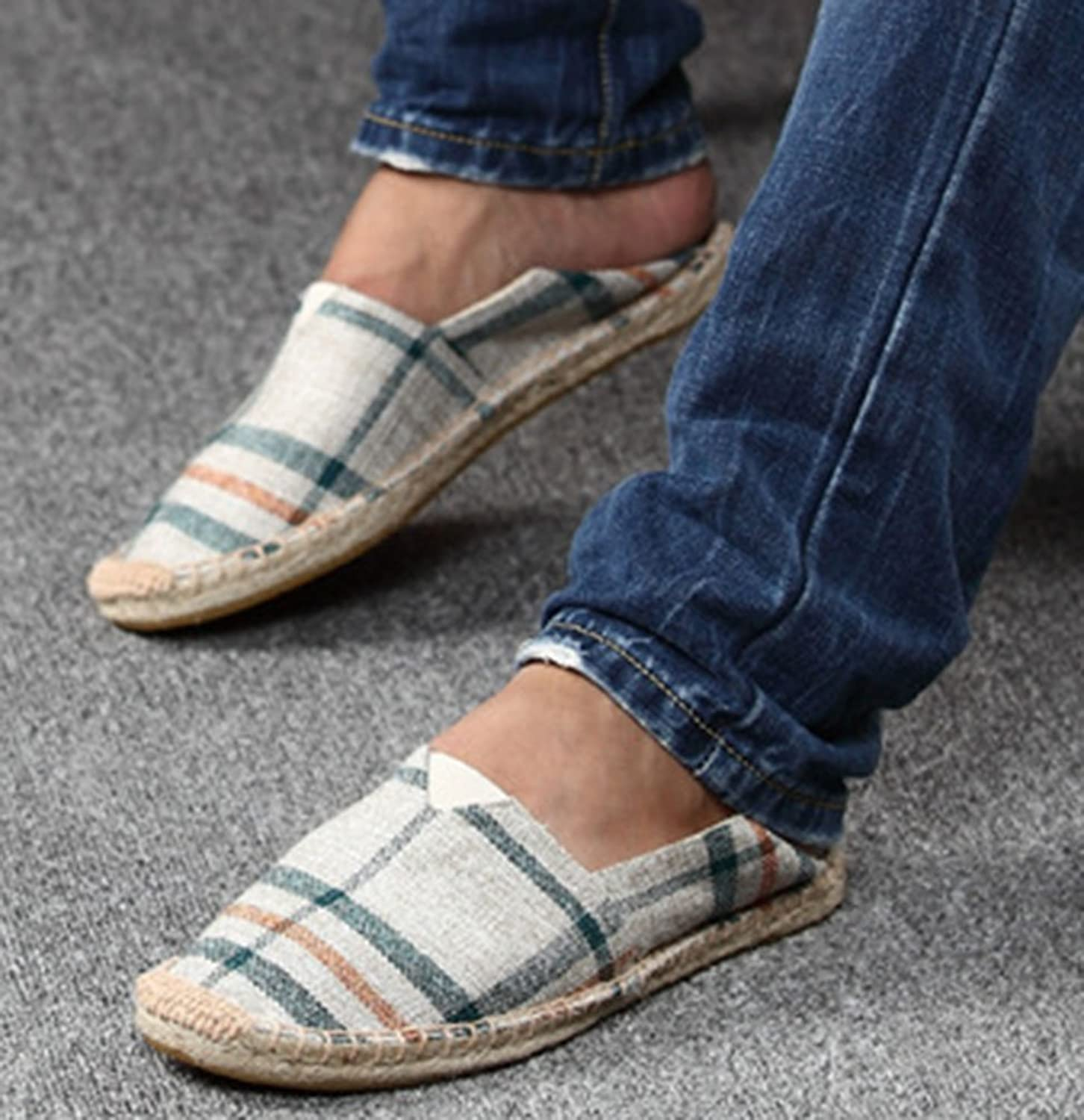 YOUJIA Unisex Plaid Checked Espadrilles Slip On Canvas Shoes Casual Beach  Summer Flats: Amazon.co.uk: Shoes & Bags