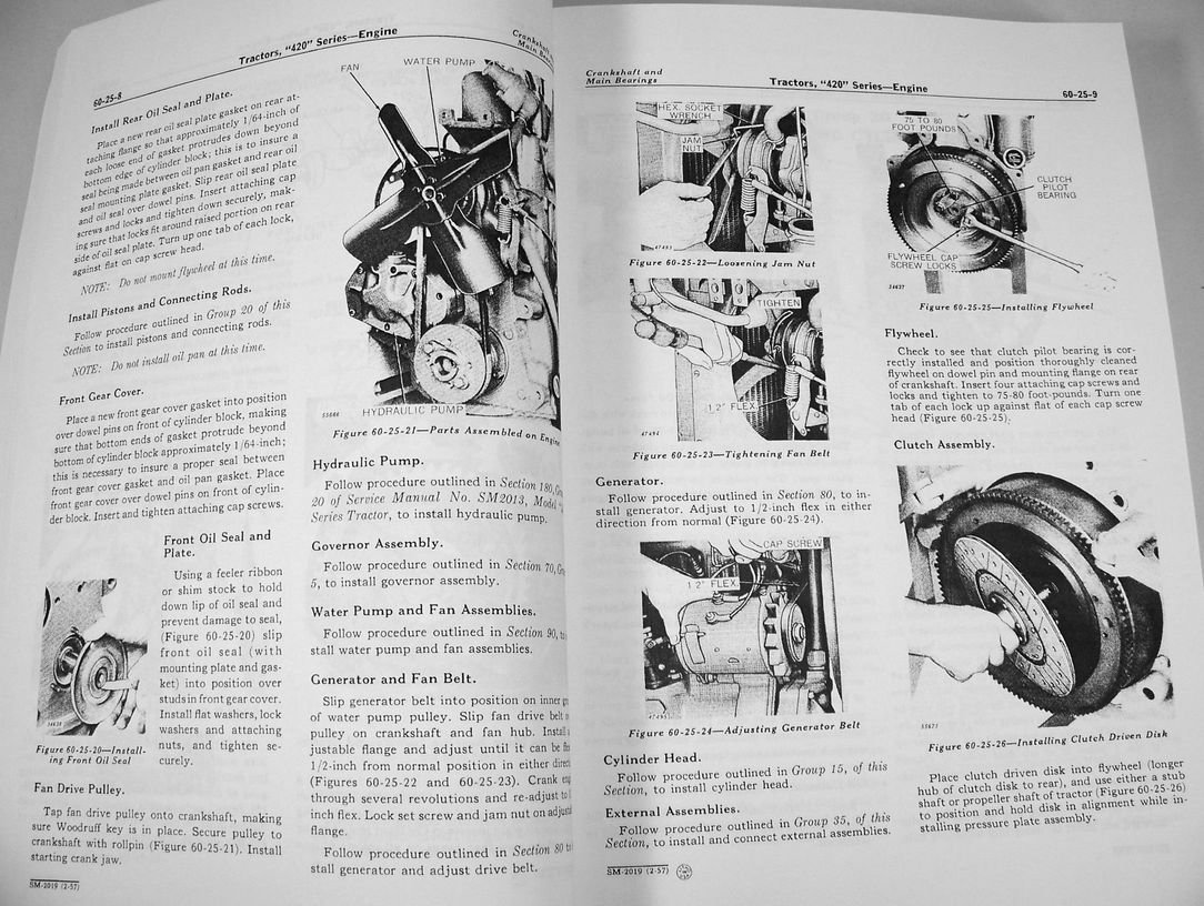 John deere 420 430 435 series tractors and crawlers technical john deere 420 430 435 series tractors and crawlers technical service manual new print 670 pages amazon books fandeluxe Images