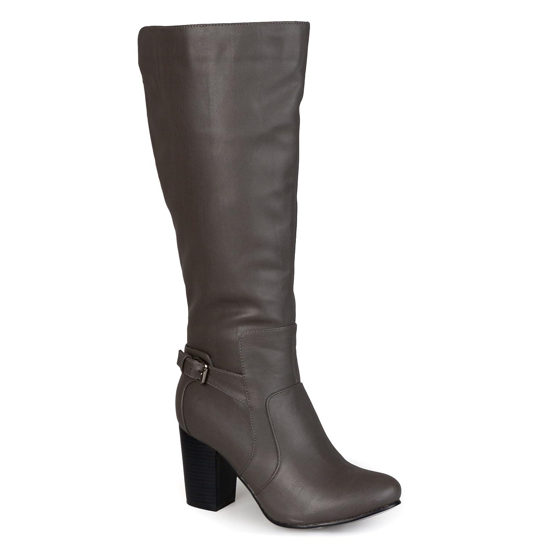 00eb81c8da86 Journee collection womens buckle detail high heeled boot mid calf jpg  1500x1500 Calf high heels