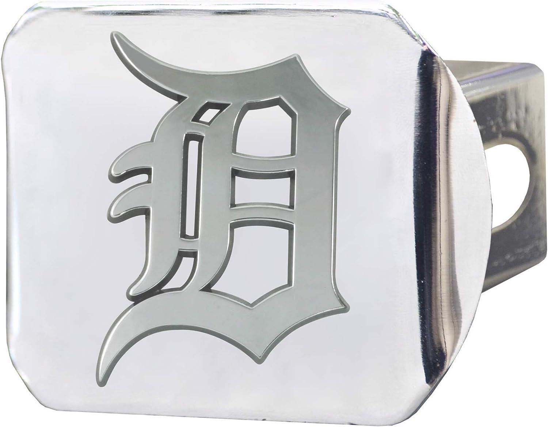 SLS FANMats Tigers Premium Heavy Duty Solid Metal Color Chrome Hitch Cover Bumper Trailer Baseball