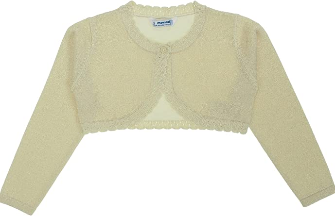 0320 Basic Knitted Cardigan for Girls Mayoral Yellow