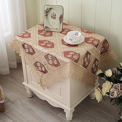LILILI Bordados de hilo de vidrio cubierta multi-uso toalla mesilla nevera cubierta de tela