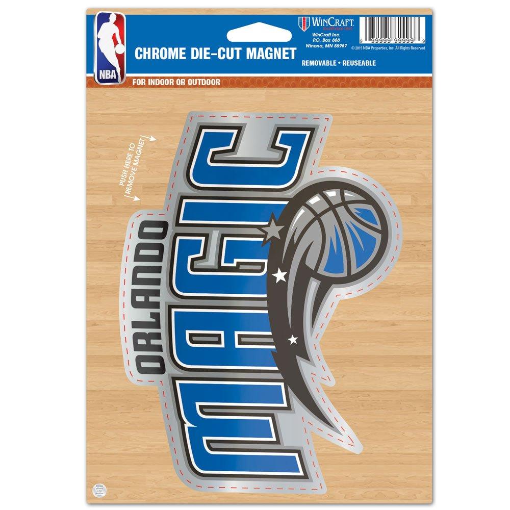 WinCraft NBA Orlando Magic Die Cut Logo Chrome Magnet, 6.25 x 9-Inch