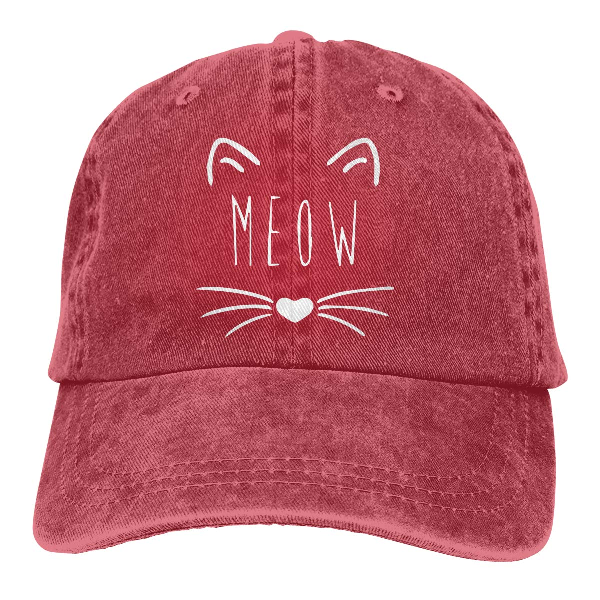 662d8842c402c Cat Meow Most Popular Personalized Vintage Lastest Men   Women Adjustable  Denim Dad Hat Cotton Baseball Cap Black at Amazon Men s Clothing store