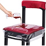 HOMEMAXS Dinning Chair Covers Chair Protectors Bigger Size with Adjustable Belt Strap Fit Most Chairs Clear Waterproof…