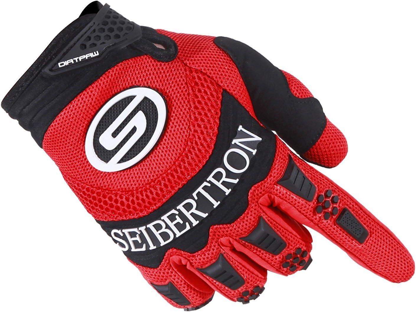 Seibertron Guanti DIRTPAW Sportivi MTB//BMX e Motocross con Imbottiture sulle nocche.
