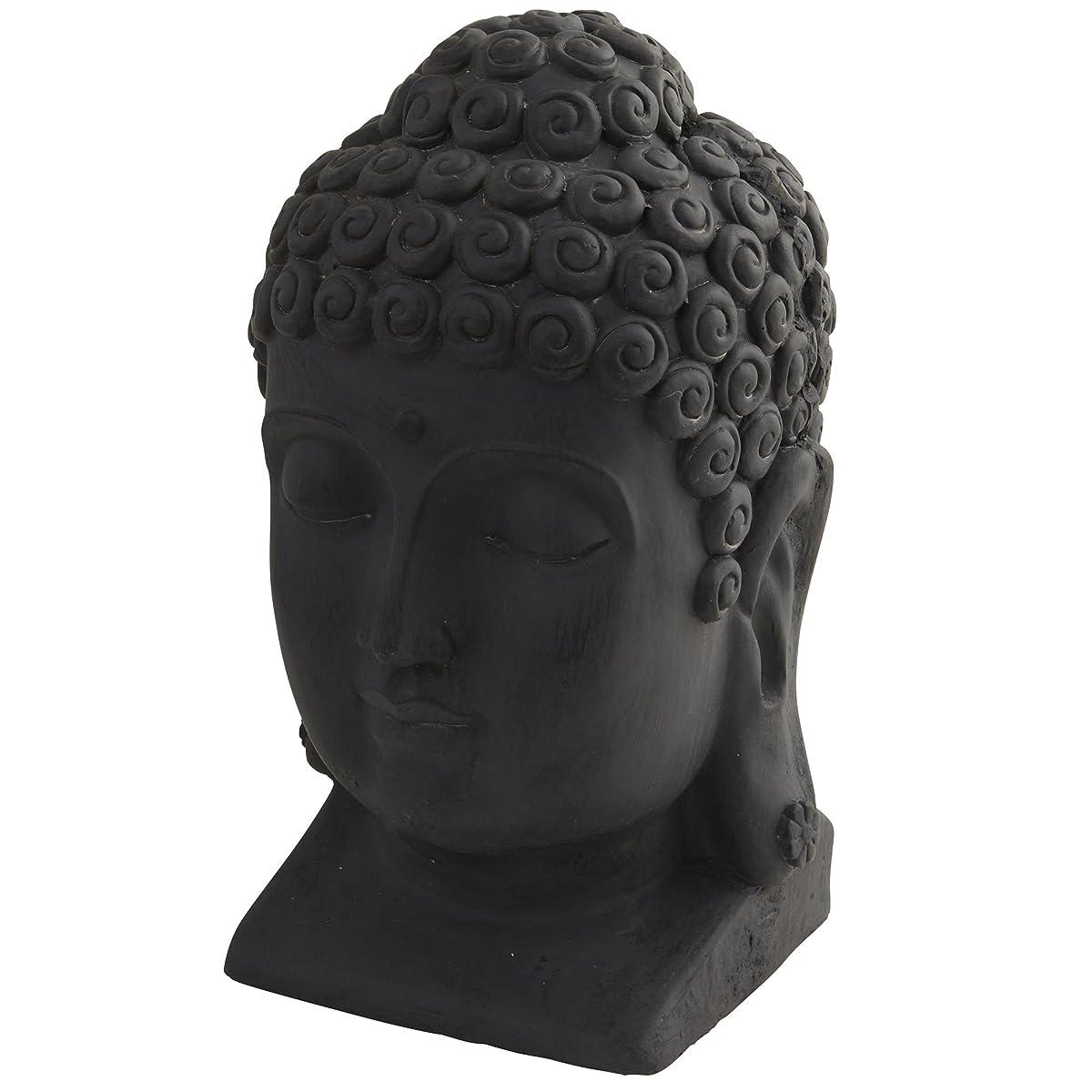 Nearly Natural 4983 Indoor/Outdoor Buddha Head, Black